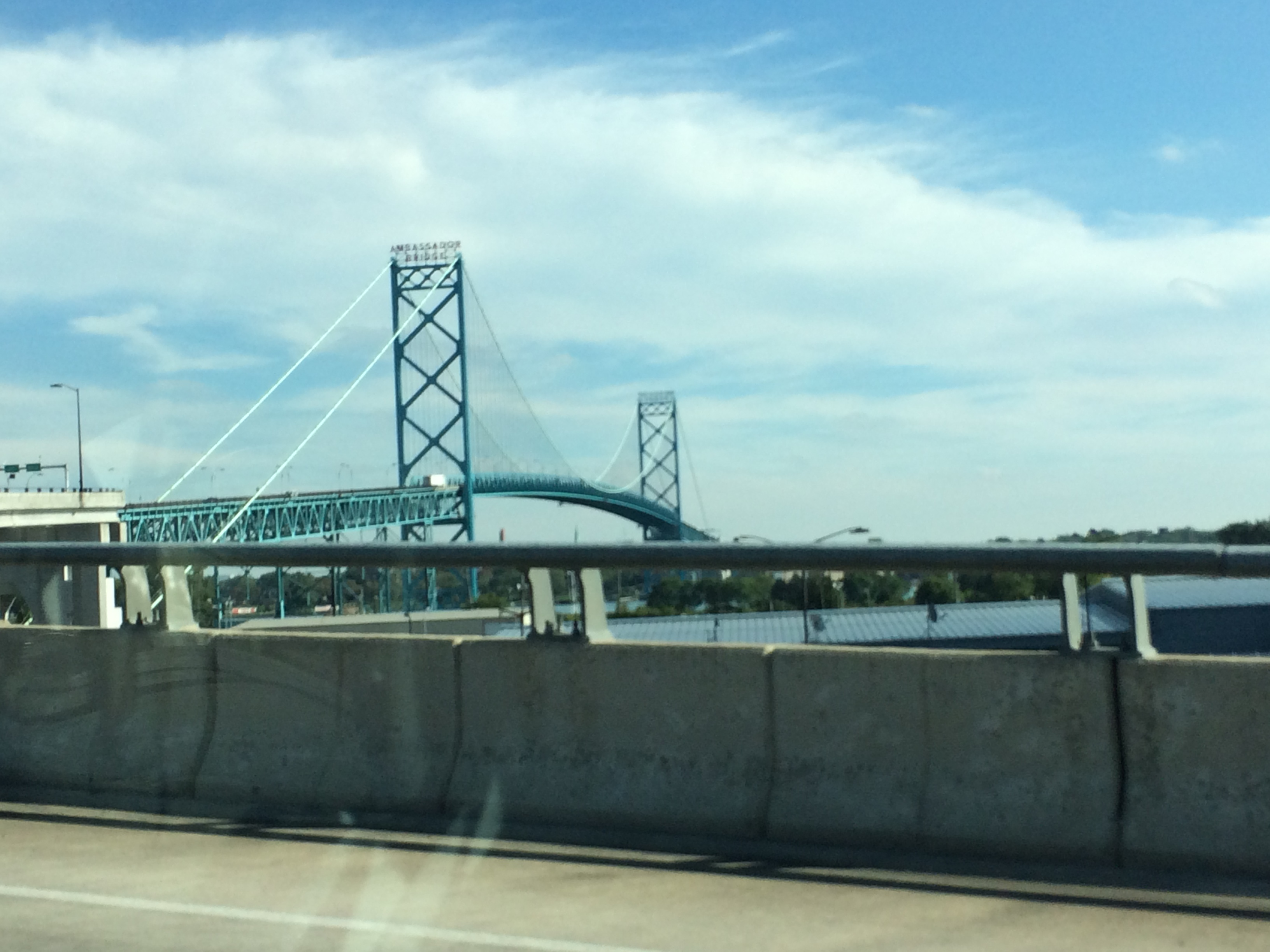 0006 2015-09-18 16.18.33 View of Ambassador Bridge to Canada - Roadtripping to Canada with David and Susie