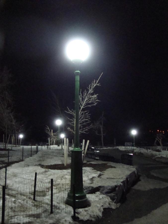 2014-04-03 12.46.57 Niagara Falls At Night Snow on Ground