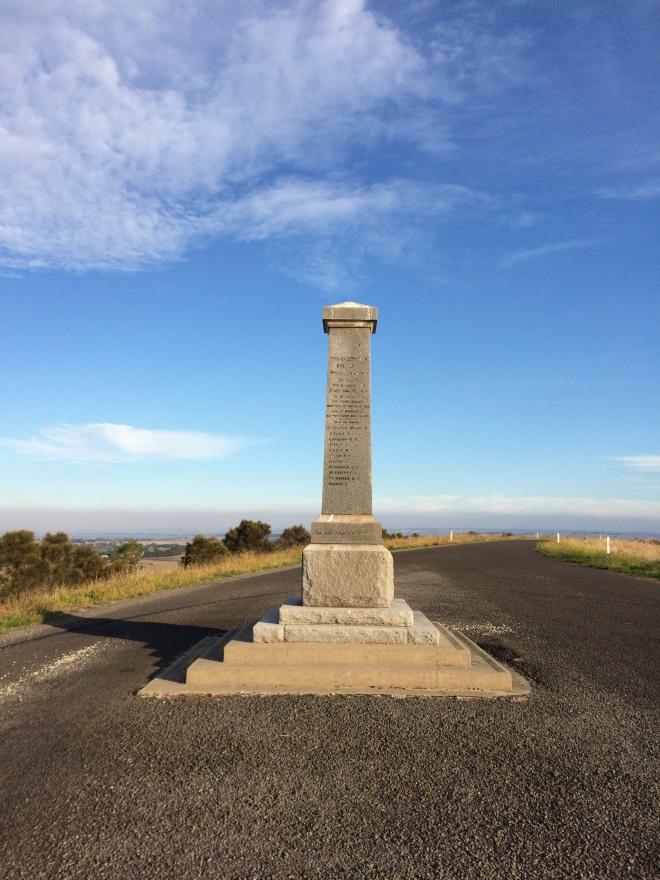 2015-04-13 16.39.57 War Memorial Alvie Dreeite Coragulac Hill