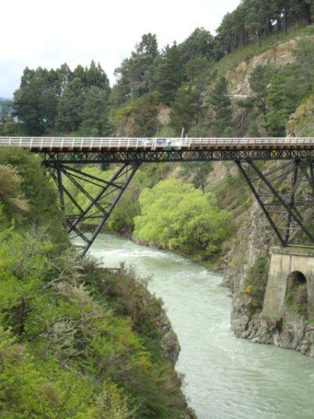 032 Bridge over Waiau River at Thrillseekers' Canyon.